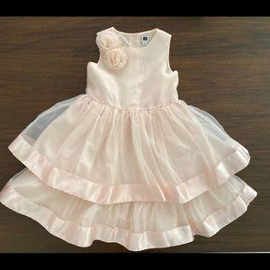 Janie and Jack Girls Organza Dress, Pink, Size 5T